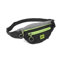 SPOKEY - BOREAS menšia športová ľadvinka čierno-šedá, zelený zips, 3l