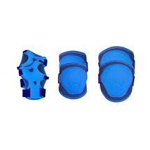 SPOKEY - BUFFER - 3-dielna sada detských chráničov, modrá, vel. XS