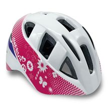 SPOKEY - CHERUB Detská cyklistická prilba IN-MOULD, 44-48, biela