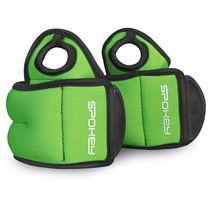 SPOKEY - COM FORM IV Závažie na zápästie 2 x 1kg zelené