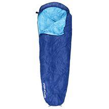 SPOKEY - GLOBETROTTER Spací vak múmie modrý, pravé zapínanie