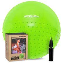 SPOKEY - HALF FIT Gymnastická lopta 2v1 65 cm vrátane pumpičky zelená