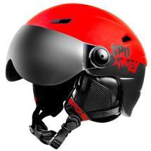SPOKEY - JASPER lyžiarska prilba s vymeniteľným čelným sklom, čierno-červená, vel. L / XL