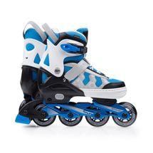 011ee0d27bde3 SPOKEY - MADDOX Kolieskové korčule , regulovateľné, sivo-modré, ABEC7  Carbon, vel