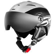 SPOKEY - MONTANA lyžiarska prilba s vymeniteľným čelným sklom, čierna, veľ. M