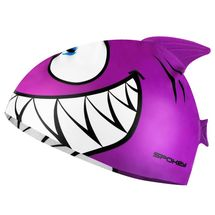 SPOKEY - REKINEK-Plavecká čiapka ŽRALOK fialová