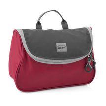 SPOKEY - RESORT Menšia kozmetická cestovná taška, červeno-šedá