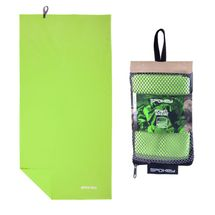 SPOKEY - SIROCCO XL Rýchloschnúci uterák 85x150 cm, zelený s odnímatelnou sponou