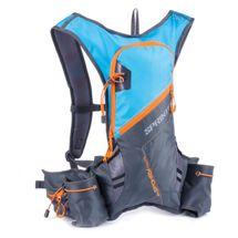 SPOKEY - SPRINTER - Cyklistický a běžecký batoh 5l šedo/modrý, vodeodolný