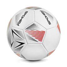 SPOKEY - STENCIL Futbalová lopta vel. 5 bielo-červená