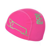 SPOKEY - TRACE JUNIOR Plavecká čiapka nylon, logo psík ružová