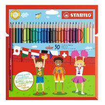 STABILO - Farebné ceruzky, šesť-hranné, STABILO, 30 rôznych farieb