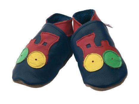 STARCHILD - Kožené topánočky - Choo Navy, Child Medium - veľkosť 4-5 rokov (veľkosť 27-28)