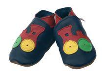 STARCHILD - Kožené topánočky - Choo Navy - veľkosť M (6-12 mesiacov)