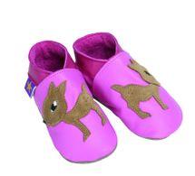 STARCHILD - Kožené topánočky - Fawn Pink - veľkosť S (0-6 mesiacov)