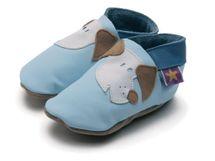 STARCHILD - Kožené topánočky - Fido Baby Blue - veľkosť XL (18-24 mesiacov)