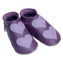 STARCHILD - Kožené topánočky - Lovehearts Grape / mauve - veľkosť L (12-18 mesiacov)