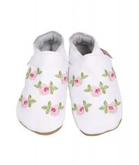 STARCHILD - Kožené topánočky - Rosa White - veľkosť L (12-18 mesiacov)