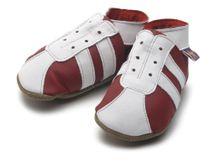 STARCHILD - Kožené topánočky - Sporty Red / White - veľkosť M (6-12 mesiacov)
