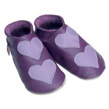 STARCHILD - Kožené topánočky - Lovehearts Grape / mauve - veľkosť M (6-12 mesiacov)