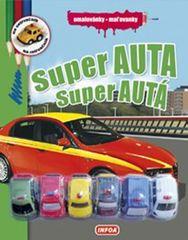 Super auta - Omalovánky + 6 hraček