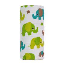 T-TOMI - BIO VEĽKÁ bambusová osuška, green elephants