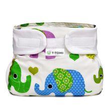 T-TOMI - Ortopedické abdukčné nohavičky, green elephants (3-6kg)
