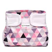 T-TOMI - Ortopedické abdukčné nohavičky, pink triangles (3-6kg)