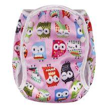T-TOMI - Plienkové plavky, pink owl, vel. S, M a L