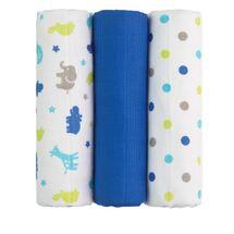 T-TOMI - TETRA plienky TOP KVALITA, s potlačou, 70x70, blue giraffes