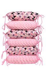 T-TOMI - Vankúšikový mantinel, pink triangles