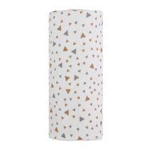 T-TOMI - Veľká bavlnená TETRA osuška, beige triangles