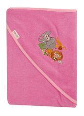 TEGA BABY - Osuška s kapucňou Safari 100x100cm 100% bavlna - ružová