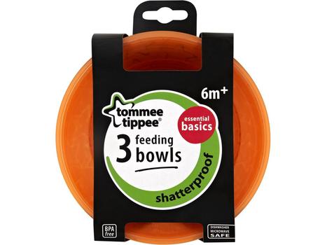 TOMMEE TIPPEE - Misky 3 ks 6m+ Basic
