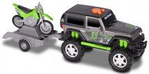 TOYSTATE - Terénne vozidlo Jeep s prívesom a motorkou Kawasaki