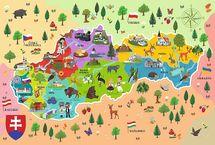 TREFL - Edukačné Puzzle Mapa Slovenska 44