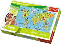 TREFL - Edukačné Puzzle Mapa sveta 100
