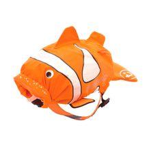 TRUNKI - Nepremokavý ruksak - Klaun očkatý (oranžový 7.5L)