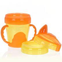 VITAL BABY - Detský výučbový 3 dielny hrnček, oranžový