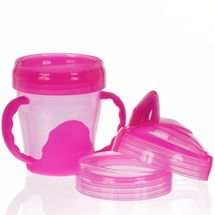 VITAL BABY - Detský výučbový 3 dielny hrnček 200 ml, ružový