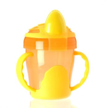 VITAL BABY - Detský výučbový hrnček 200 ml, oranžový