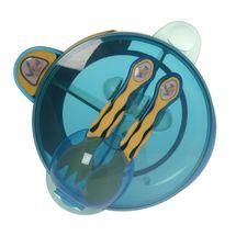 VITAL BABY - Môj prvý set s lyžičkou a vidličkou - modrý / žltý