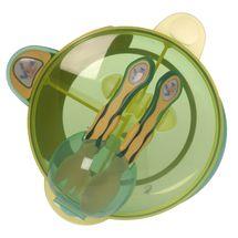 VITAL BABY - Môj prvý set s lyžičkou a vidličkou - zelený / žltý