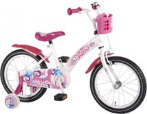"VOLARE - Detský bicykel , Kanzone Giggles 16"", WHITE/PINK"