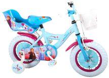 """VOLARE - Detský bicykel pre dievčatá FROZEN II - modrý-ružový, 12"""" - zložený na 95 %"""