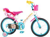 """VOLARE - Detský bicykel pre dievčatá, Luna ,,16"""" – bielo - modrý"""