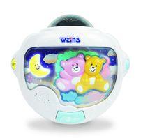 WEINA - Nočné svetlo mackovia s projektorom
