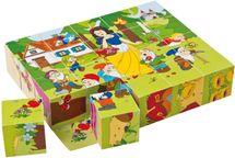 WOODY - Drevené kocky Kubus 4x5 Rozprávky 90247