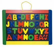 WOODY - Magnetická tabuľa s písmenkami