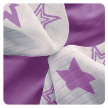 XKKO - Bambusové obrúsky 30x30 Lilac Stars MIX (9ks)